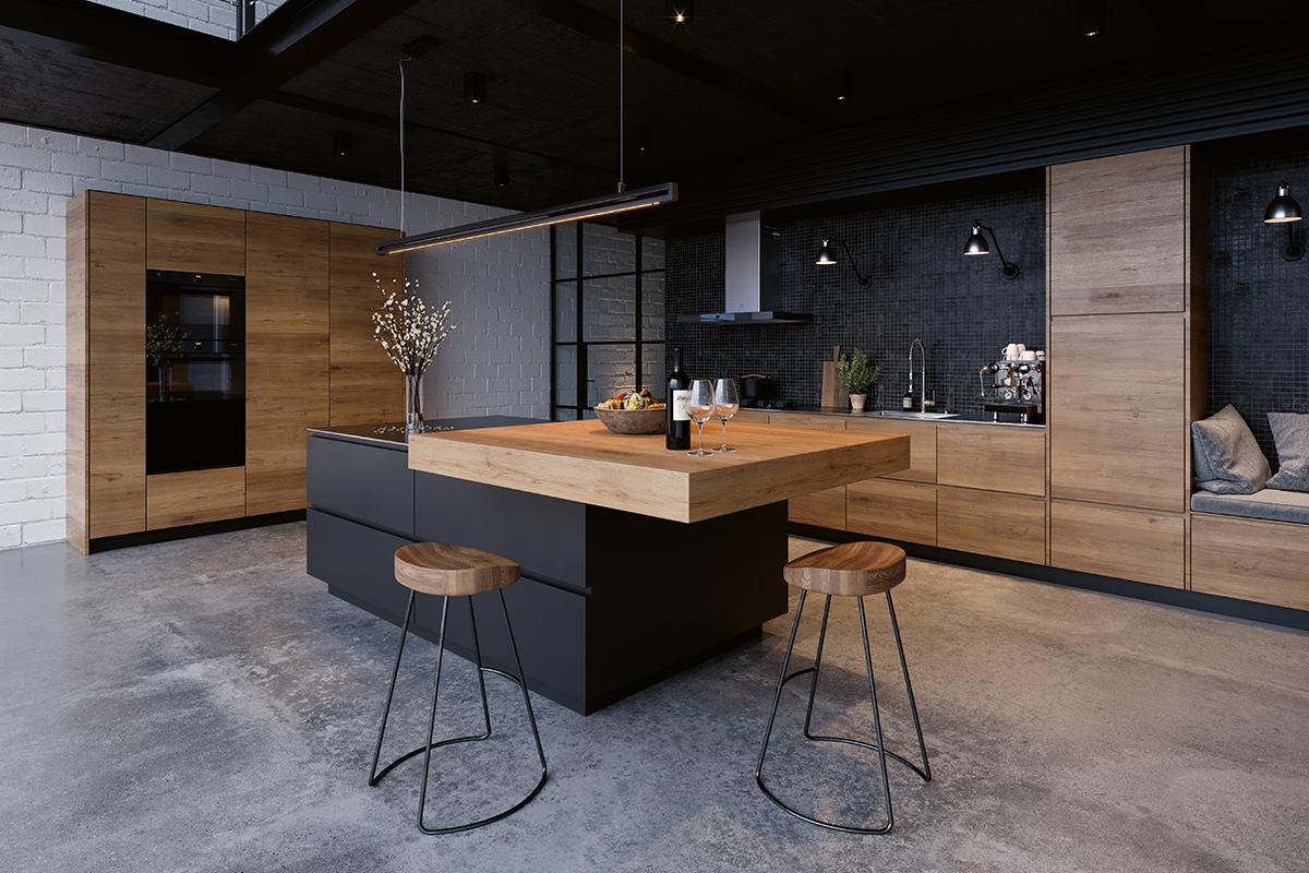 squarerooms vzug rustic integrated luxury kitchen