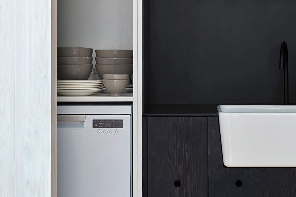 squarerooms fisher and paykel integrated kitchen appliances