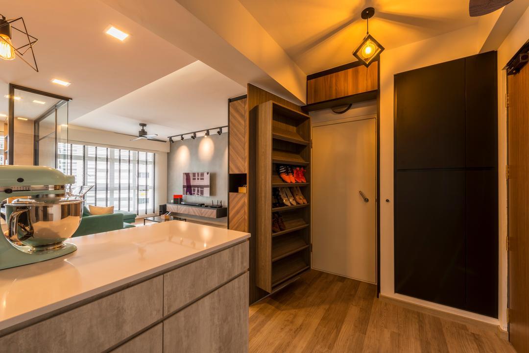 squarerooms meter square bomb shelter shoe cabinet kitchen