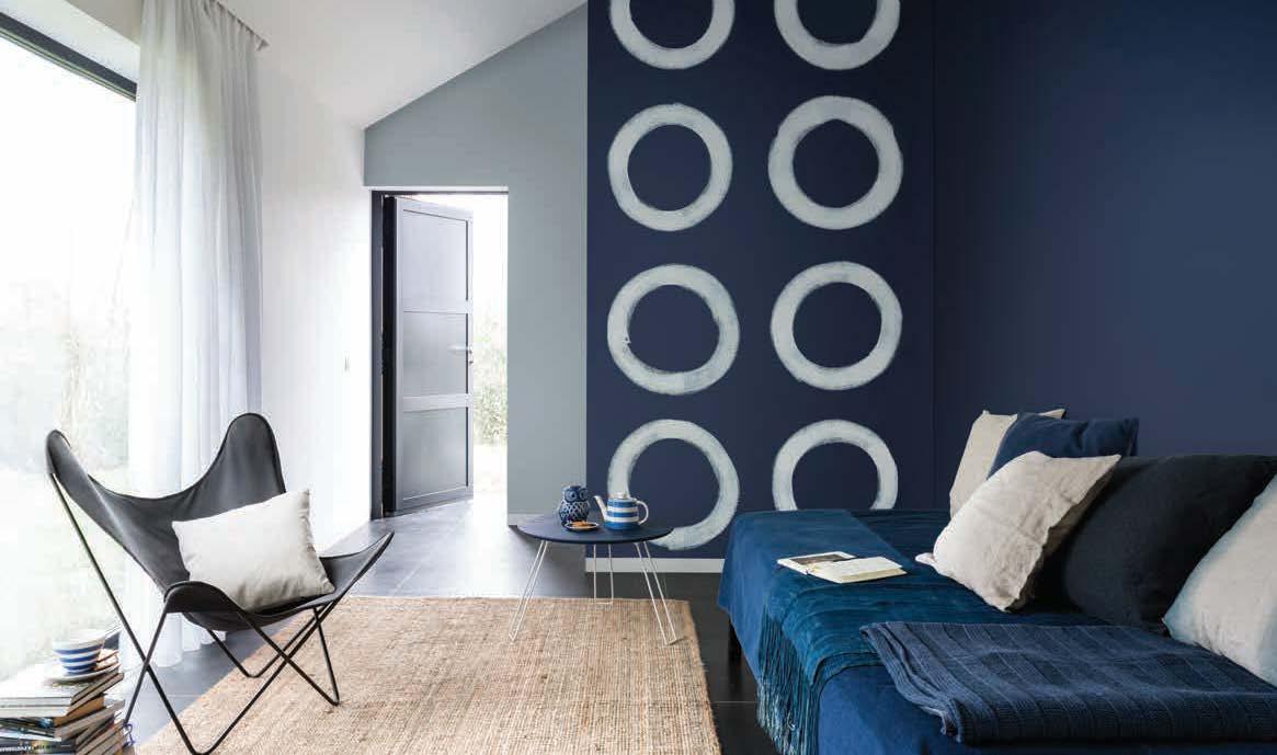 squarerooms dark blue bedroom dulux paint