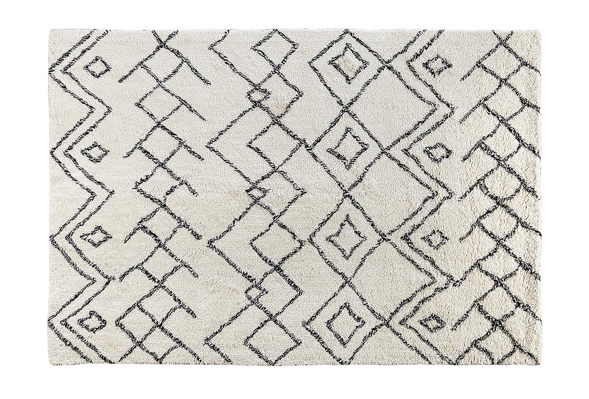squarerooms castlery rug geometric neutral minimalist black lines