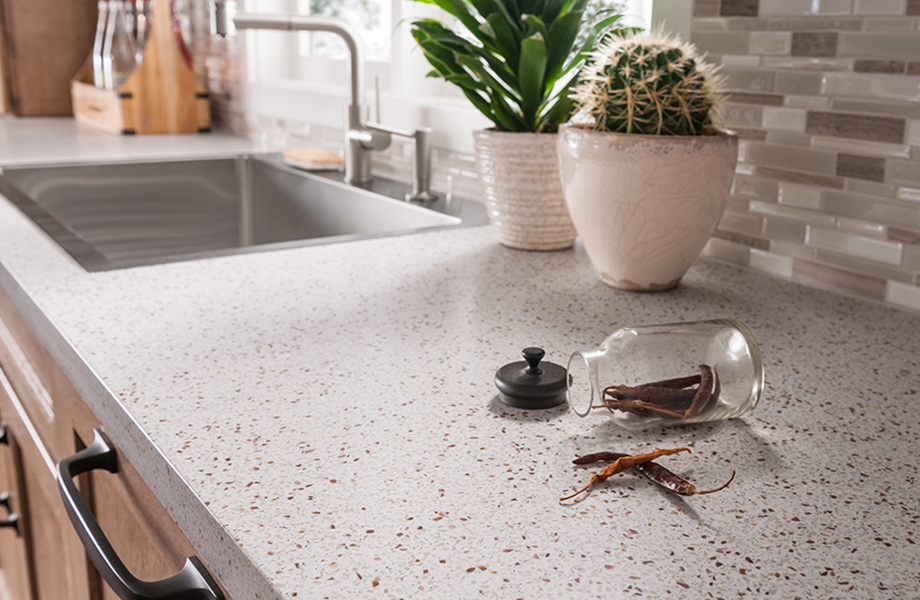 squarerooms formica countertop solid speckled surface