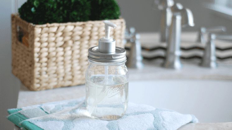 squarerooms reuse glass jar as soap dispenser bathroom decor one good thing by jillee