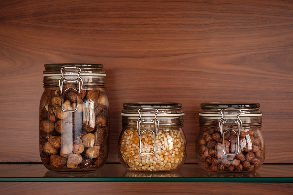squarerooms glass jar home decor storage kitchen pantry nuts