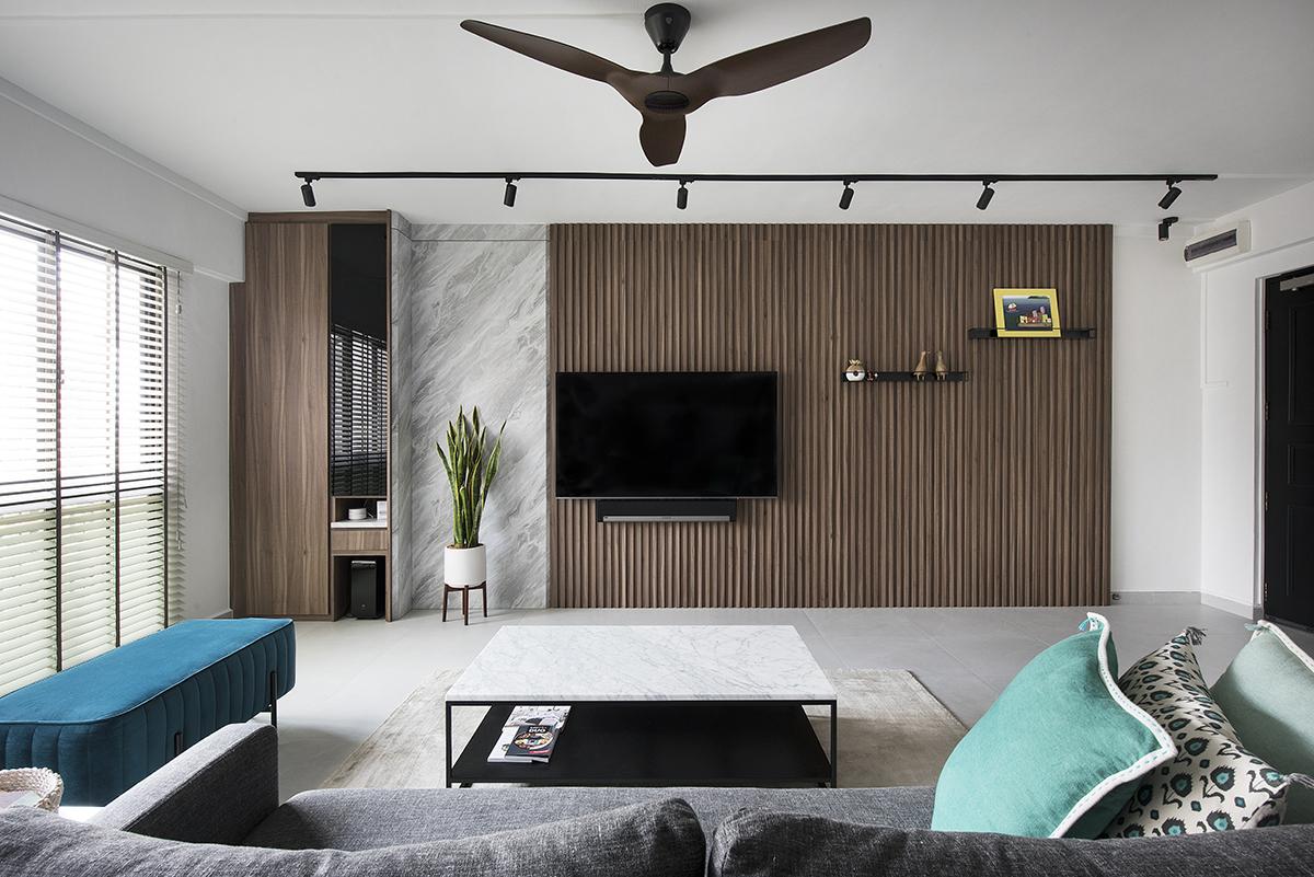 squarerooms design neu home renovation 5 room resale hdb minimalist living room