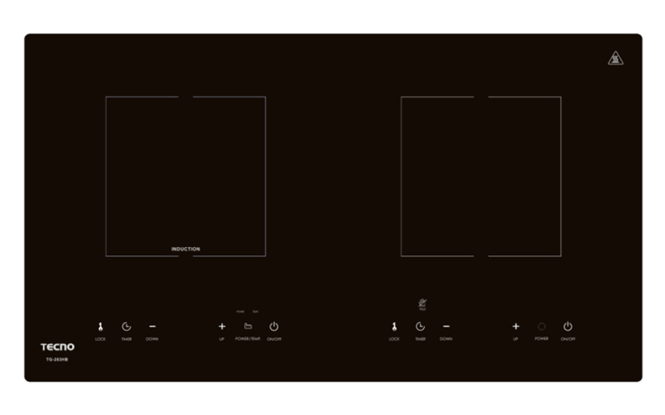 squarerooms tecno induction hybrid ceramic cooker hobs