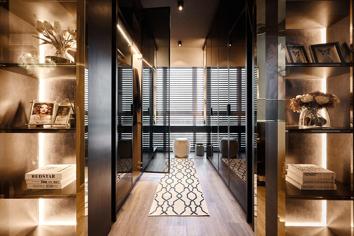 squarerooms mr shopper studio instagrammable hollywood glam condominium renovation home inspo corridor