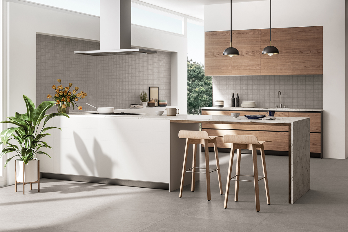 squarerooms rice fields kitchen tiled floors wooden scandinavian design