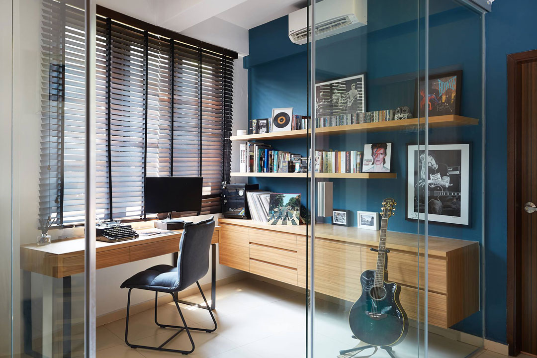 squarerooms renolux interior blue home office work desk