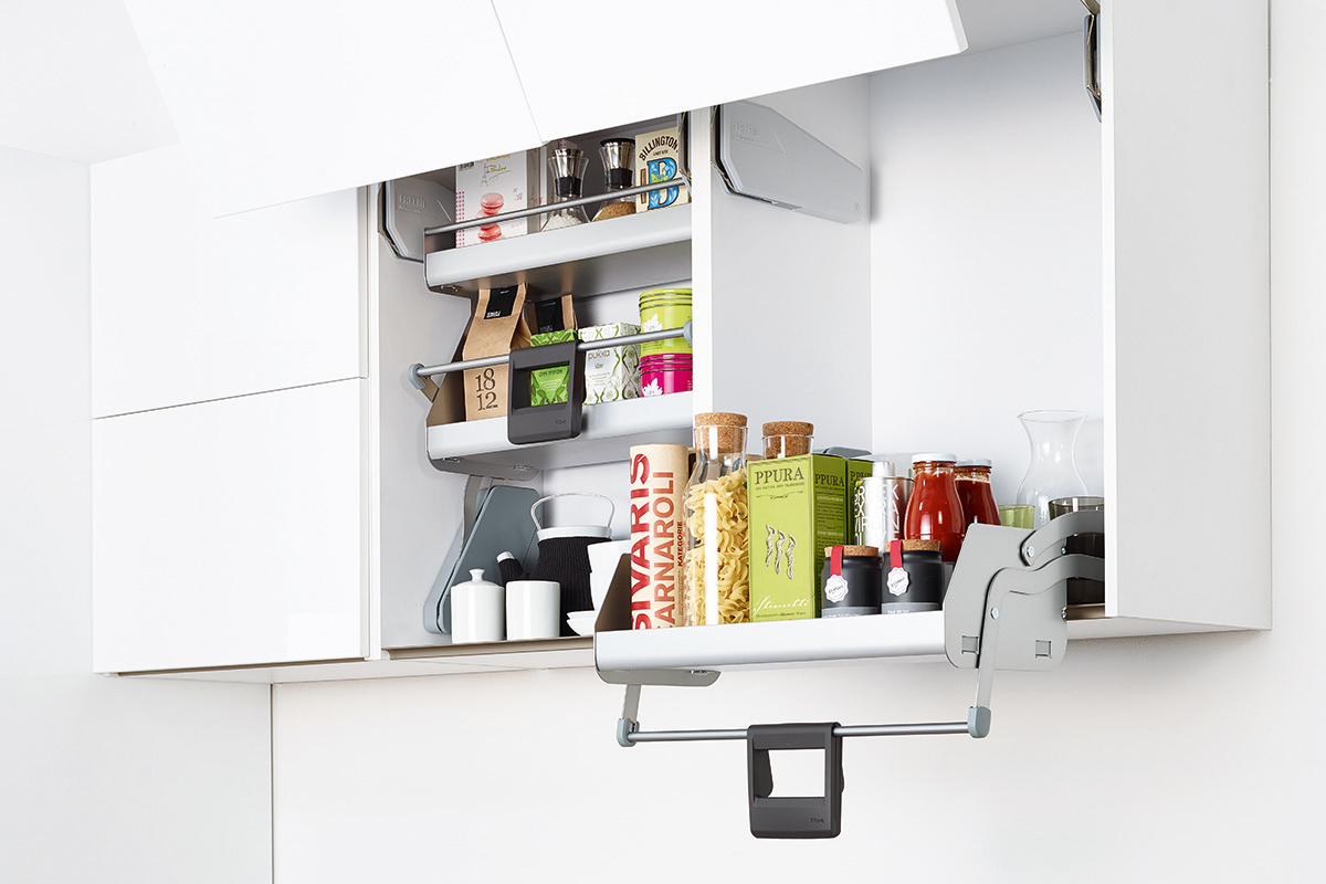 squarerooms imove hafele pull down extendable kitchen shelf white cabinet