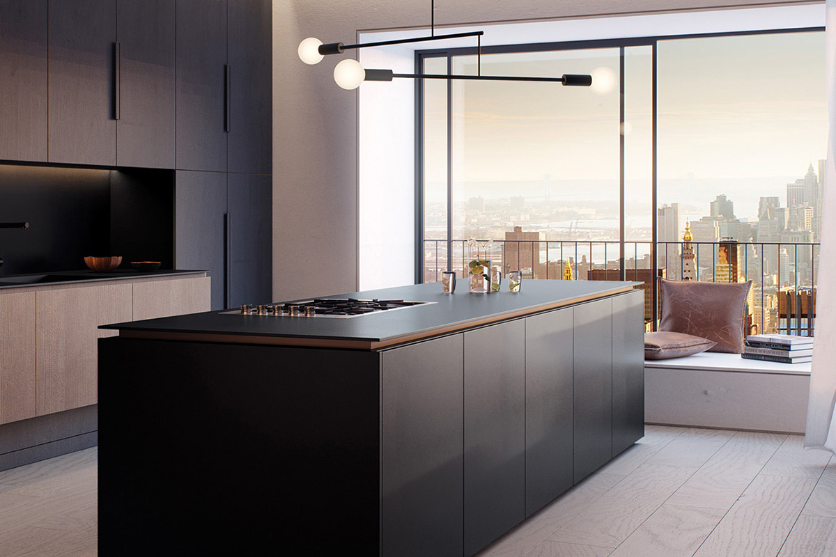 squarerooms caesarstone kitchen dark collection engineered quartz counter surface black