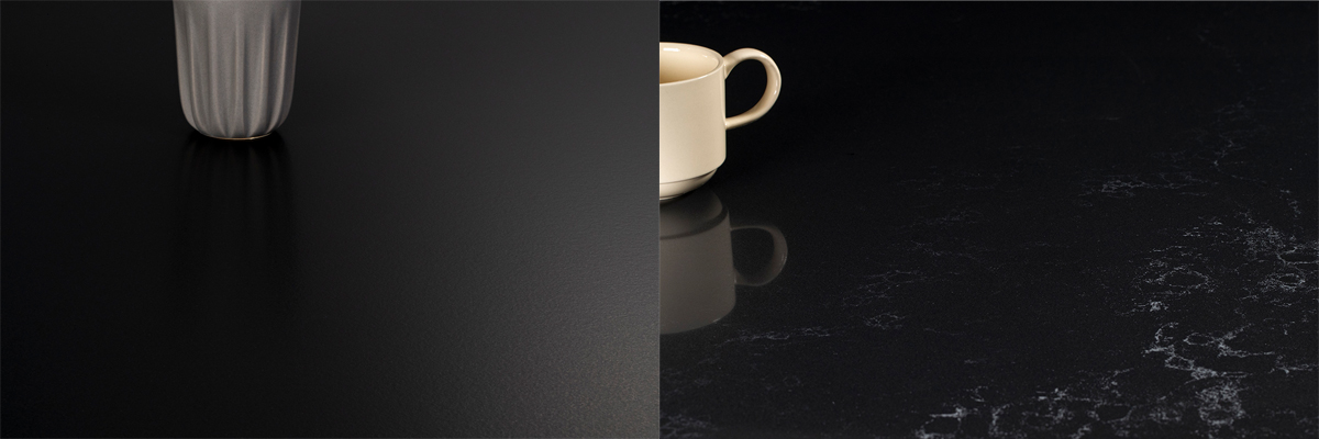 squarerooms caesarstone dark collection engineered quartz counter surface black