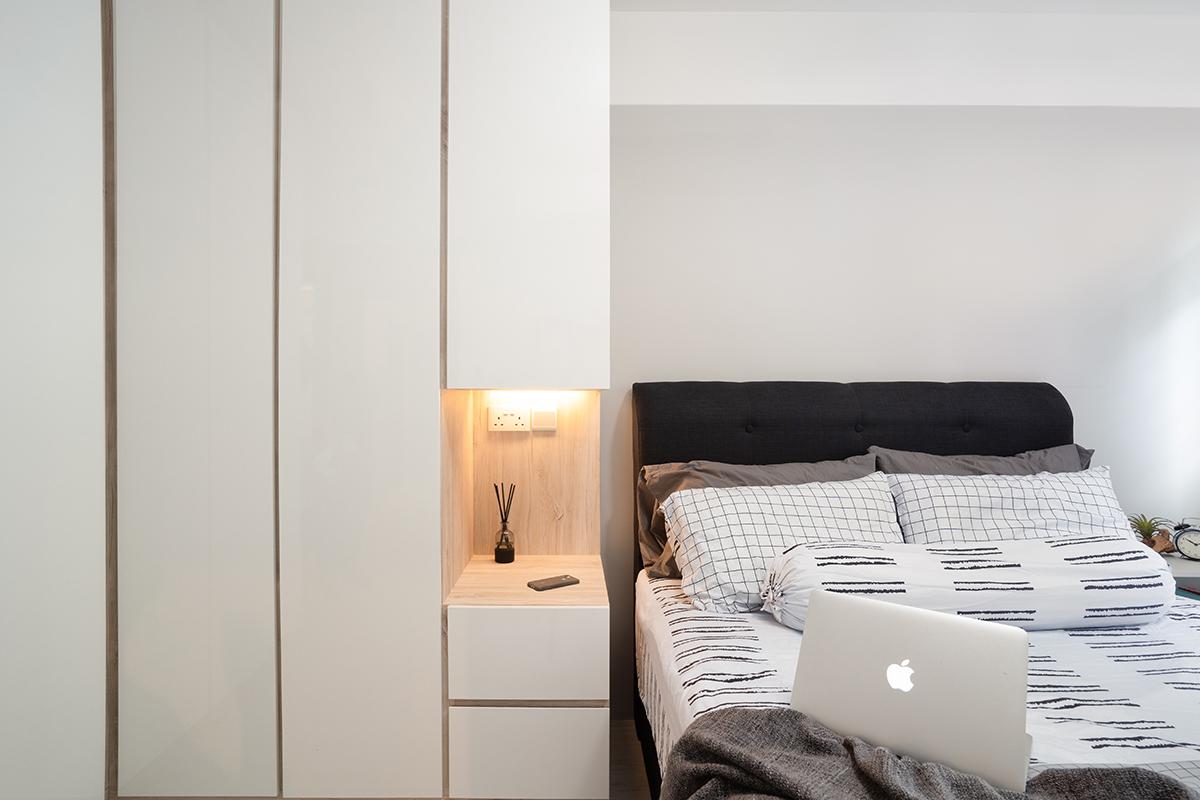 squarerooms hdb renovation minimalist design bedroom white