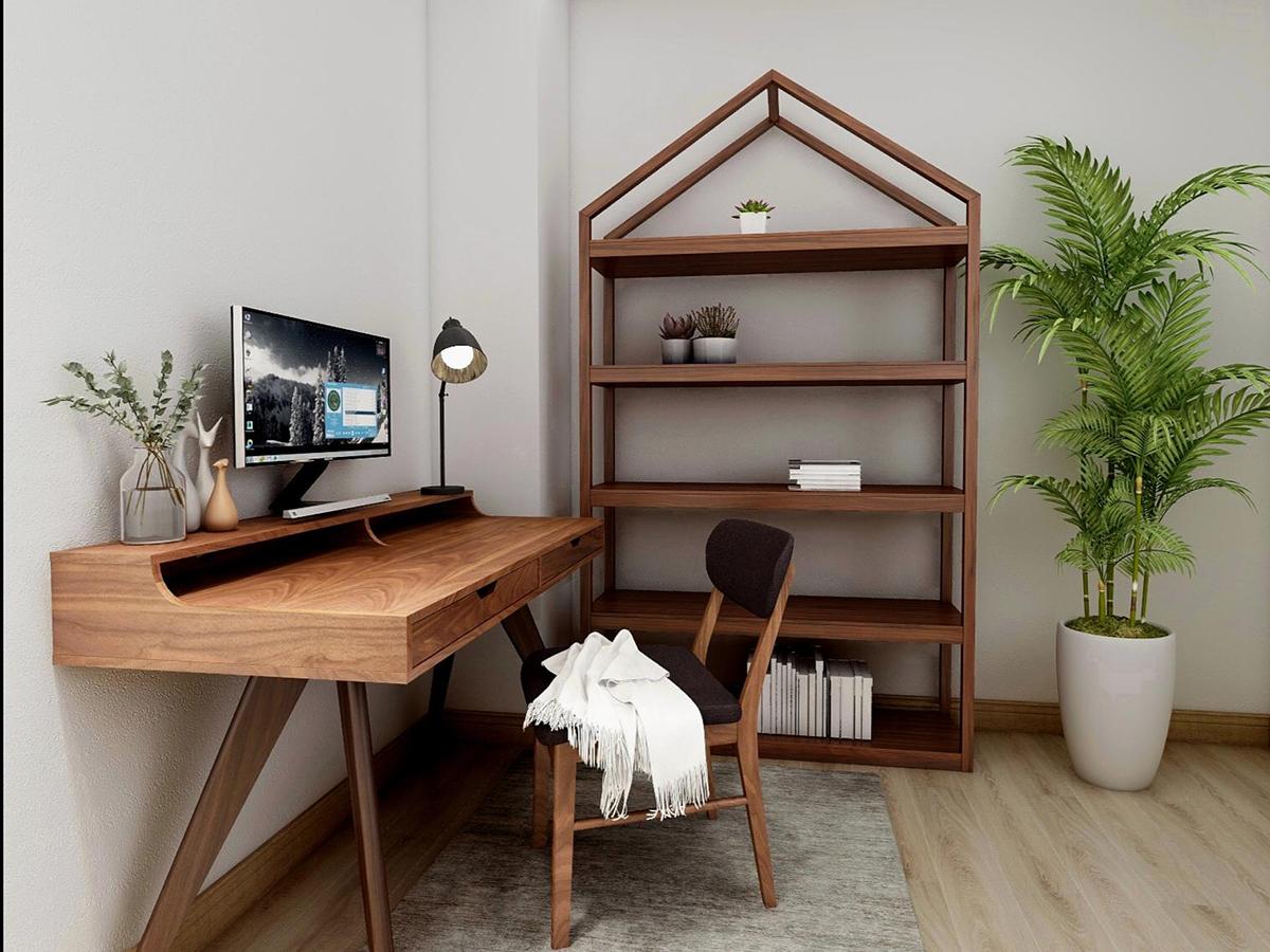 squarerooms commune desk bookshelf home office design handmade hand crafted local furniture singapore