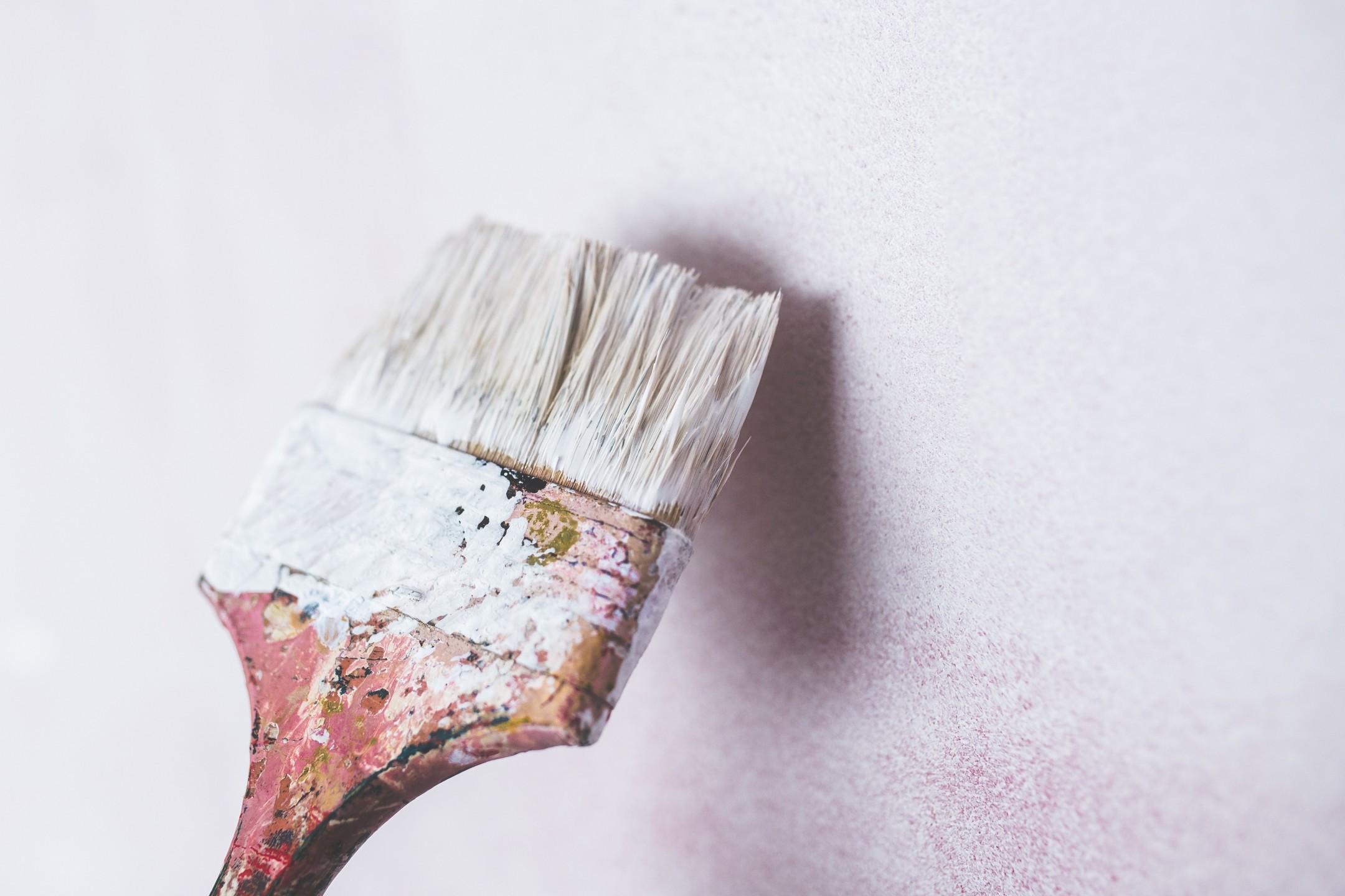 squarerooms brush paint wall white repair fix