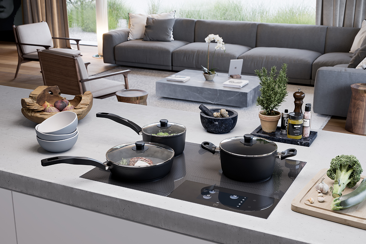 squarerooms kitchen appliance cooktop vzug cooking surface induction