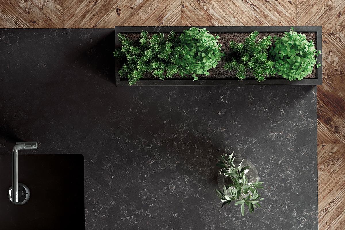 squarerooms cosentino silestone kitchen surface countertop black quartz
