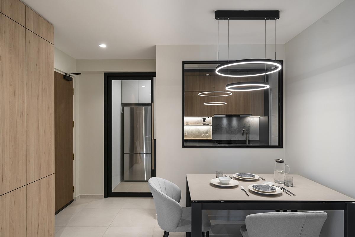 squarerooms meshwerk home design renovation minimalist scandinavian clear wall window dining room wood white
