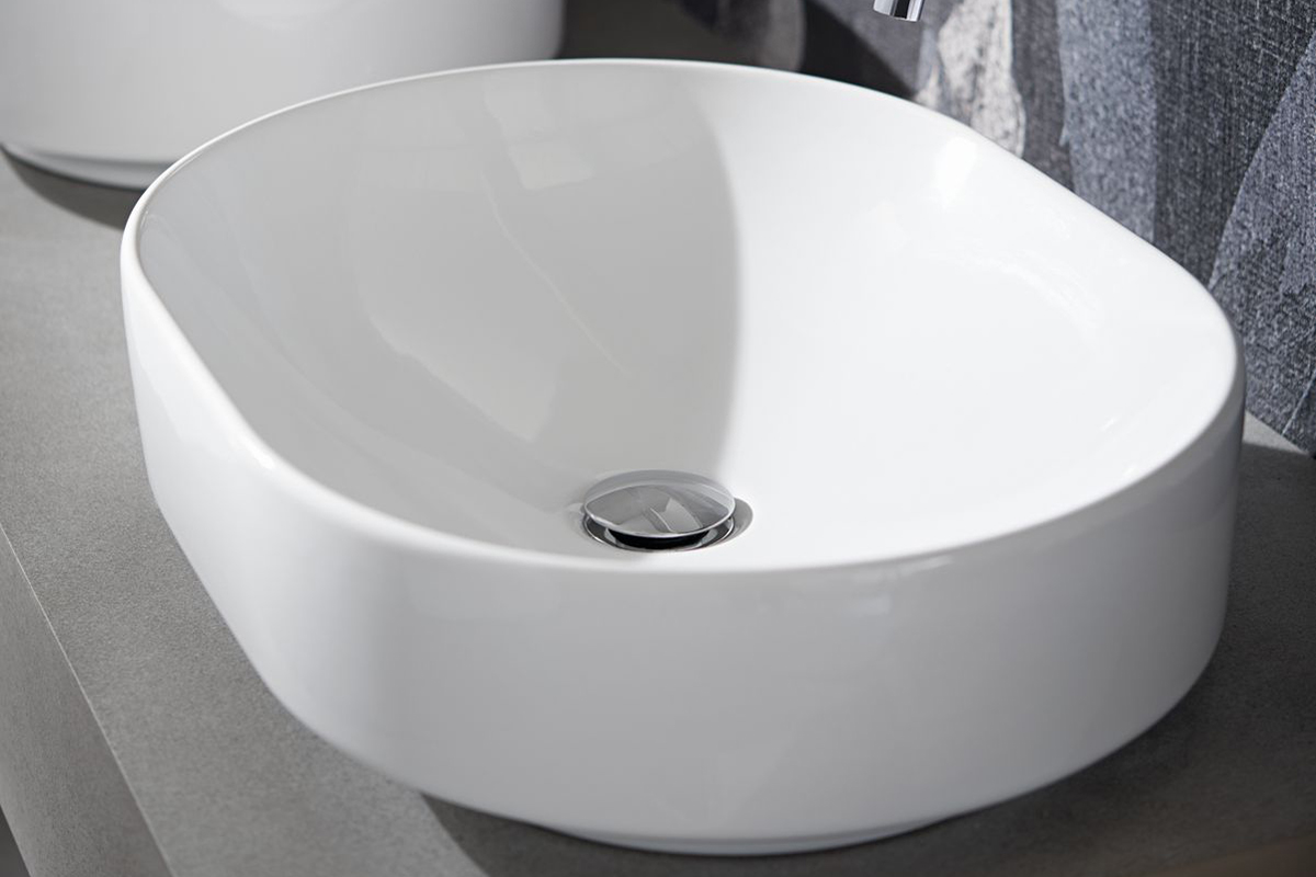 squarerooms bathroom geberit variform washbasin white ceramic sink luxurious countertop lay on round grey oval