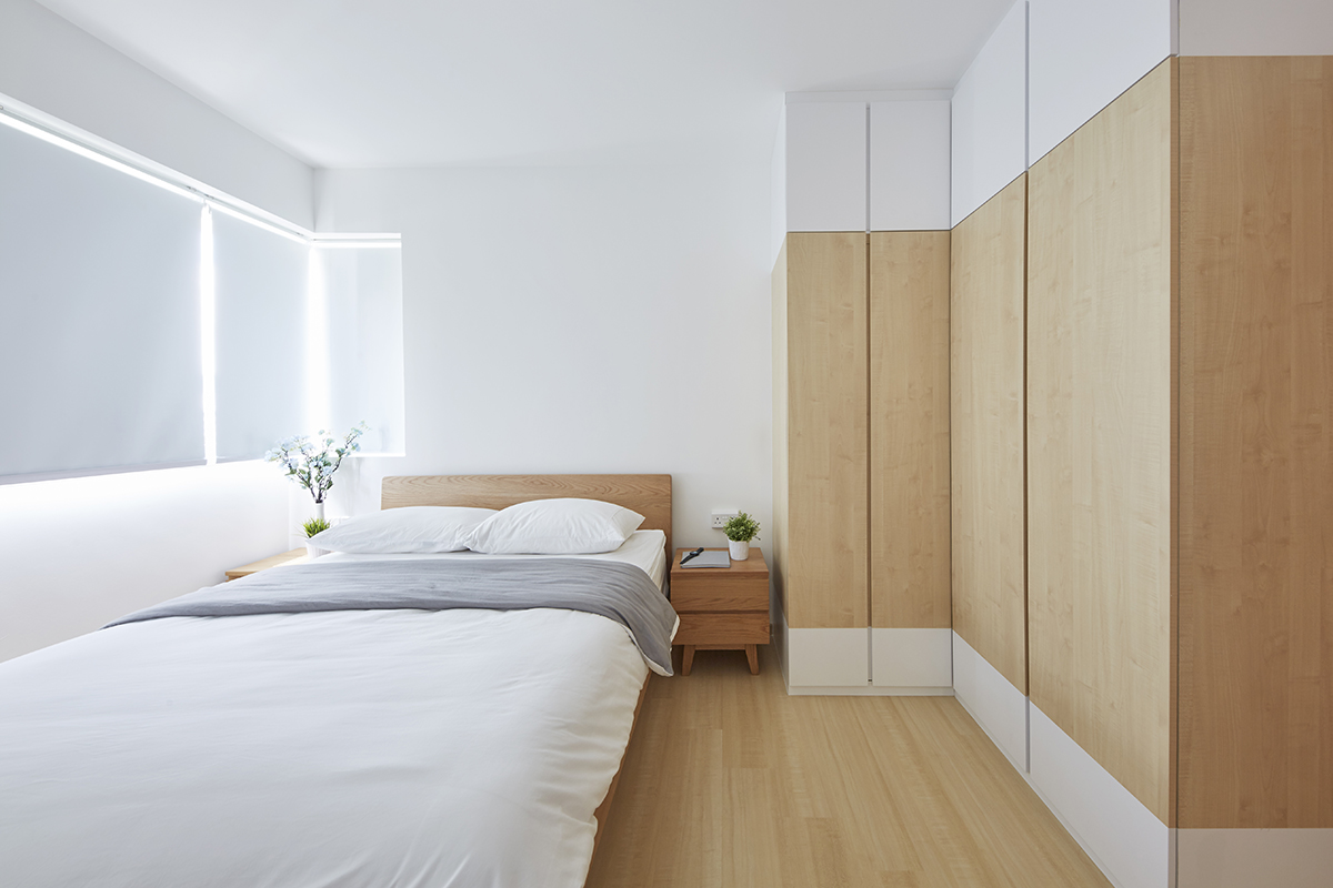 squarerooms ju design hdb renovation bedroom white wood scandinavian minimalist