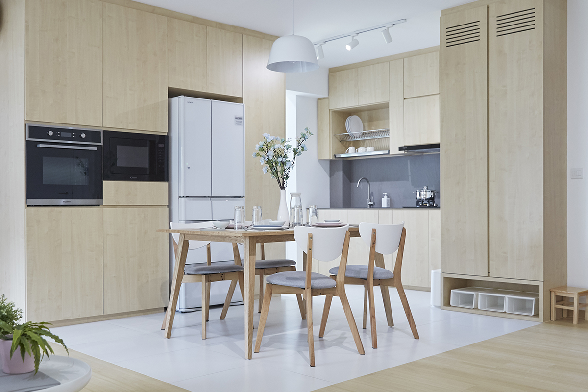 squarerooms ju design hdb renovation kitchen dining scandinavian minimalist