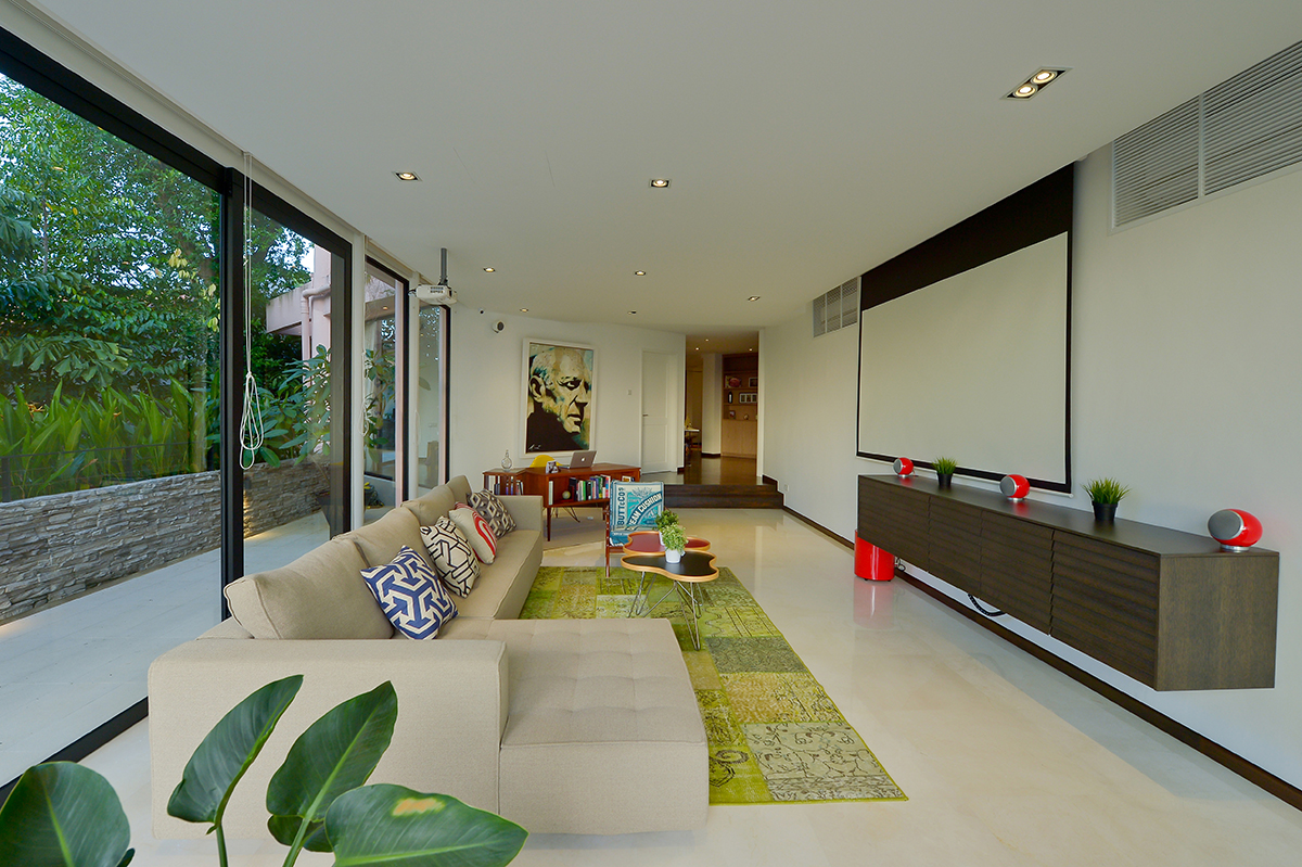 squarerooms richfield landed property house renovation living room eclectic design green