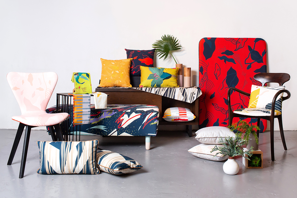 squarerooms blafink quirky local furniture upholstery bold colourful patterns chairs