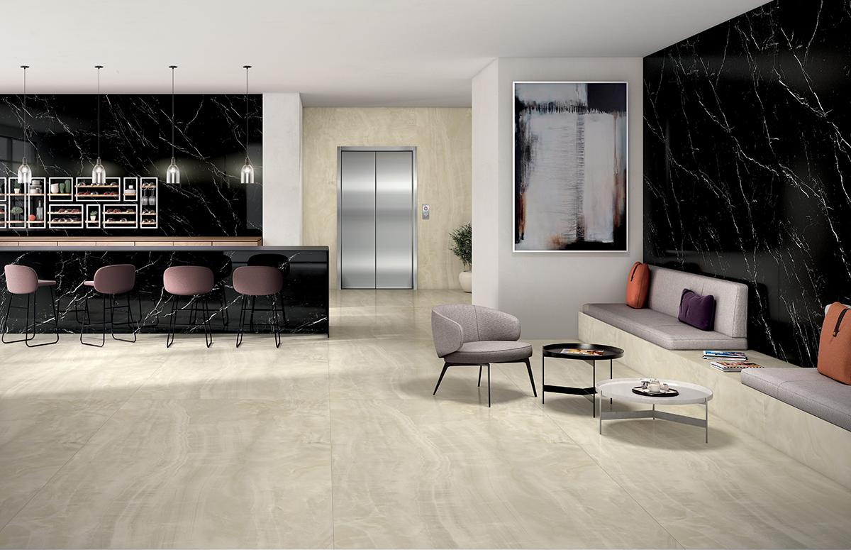 squarerooms bellus laminates walls black dark luxury gardenia slabs marble look