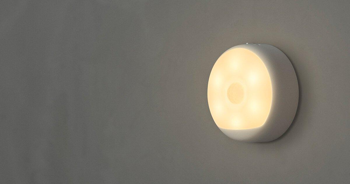 motion sensor light with yellow dim light