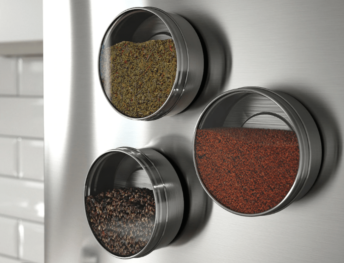 magnetic containers from IKEA