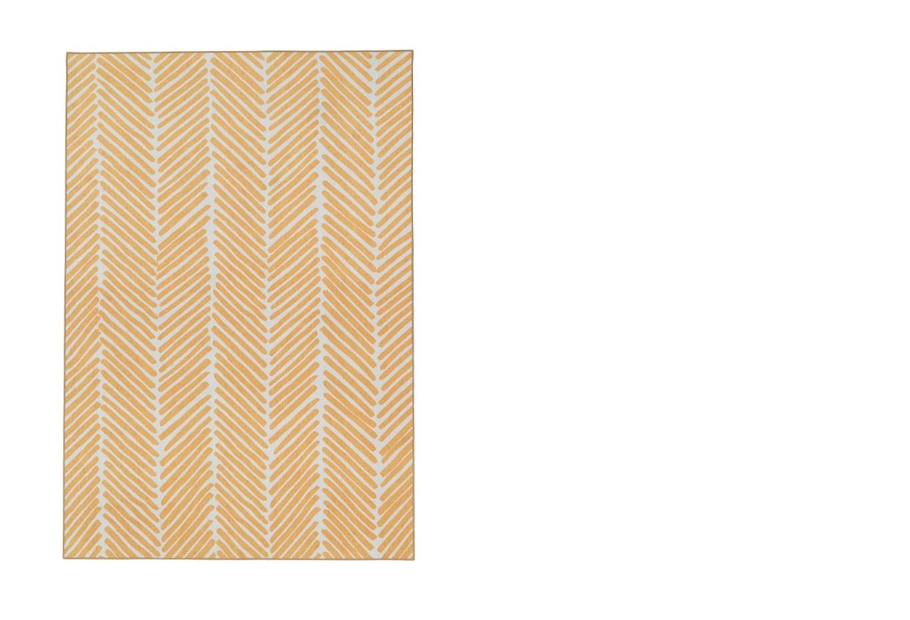 squarerooms-OMTÄNKSAM-Rug-flatwoven-yellow-ikea
