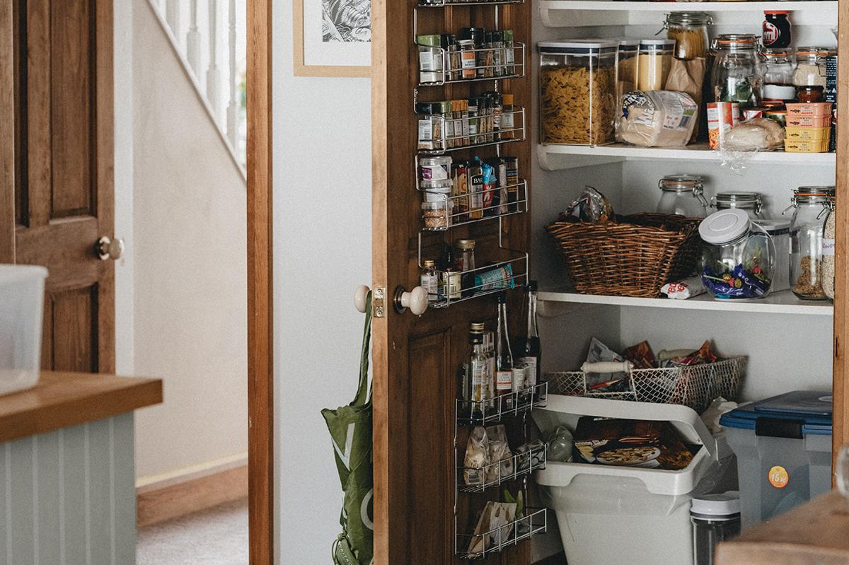squarerooms annie spratt pantry storeroom door kitchen dry food storage