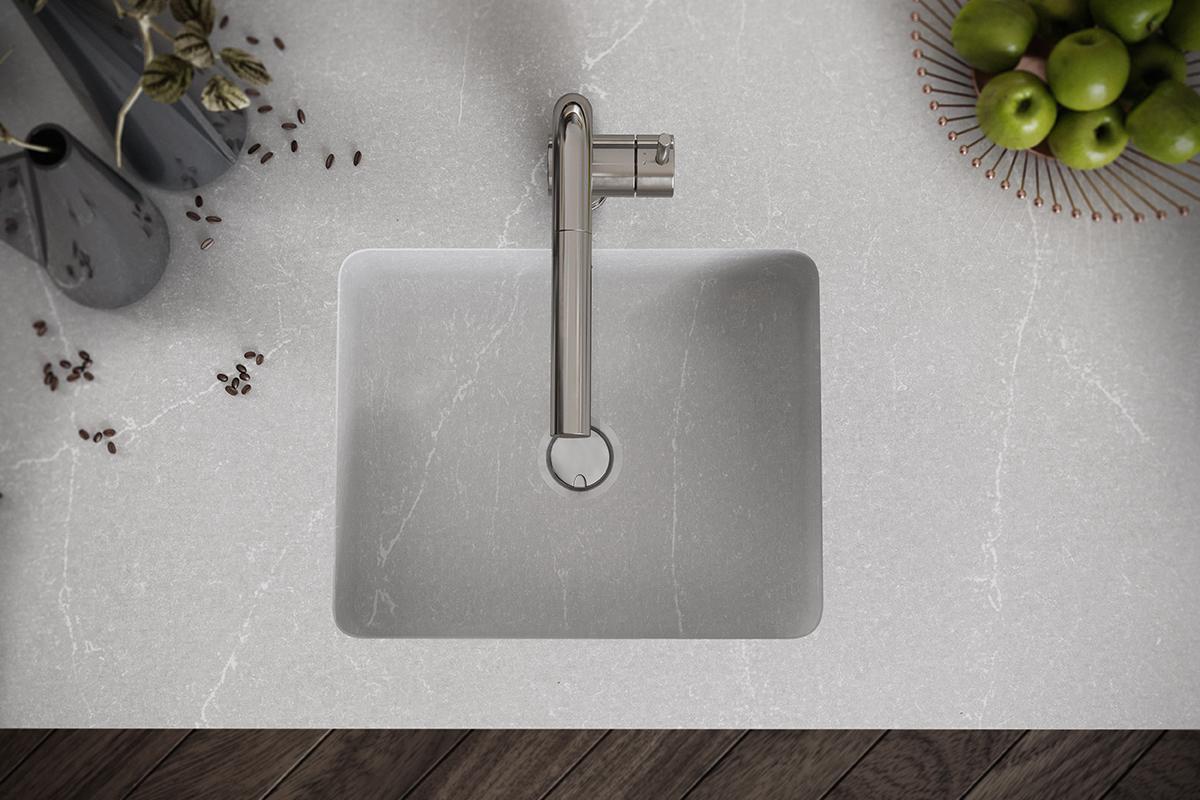 squarerooms silestone cosentino integrity q sink washbasin kitchen integrated quartz