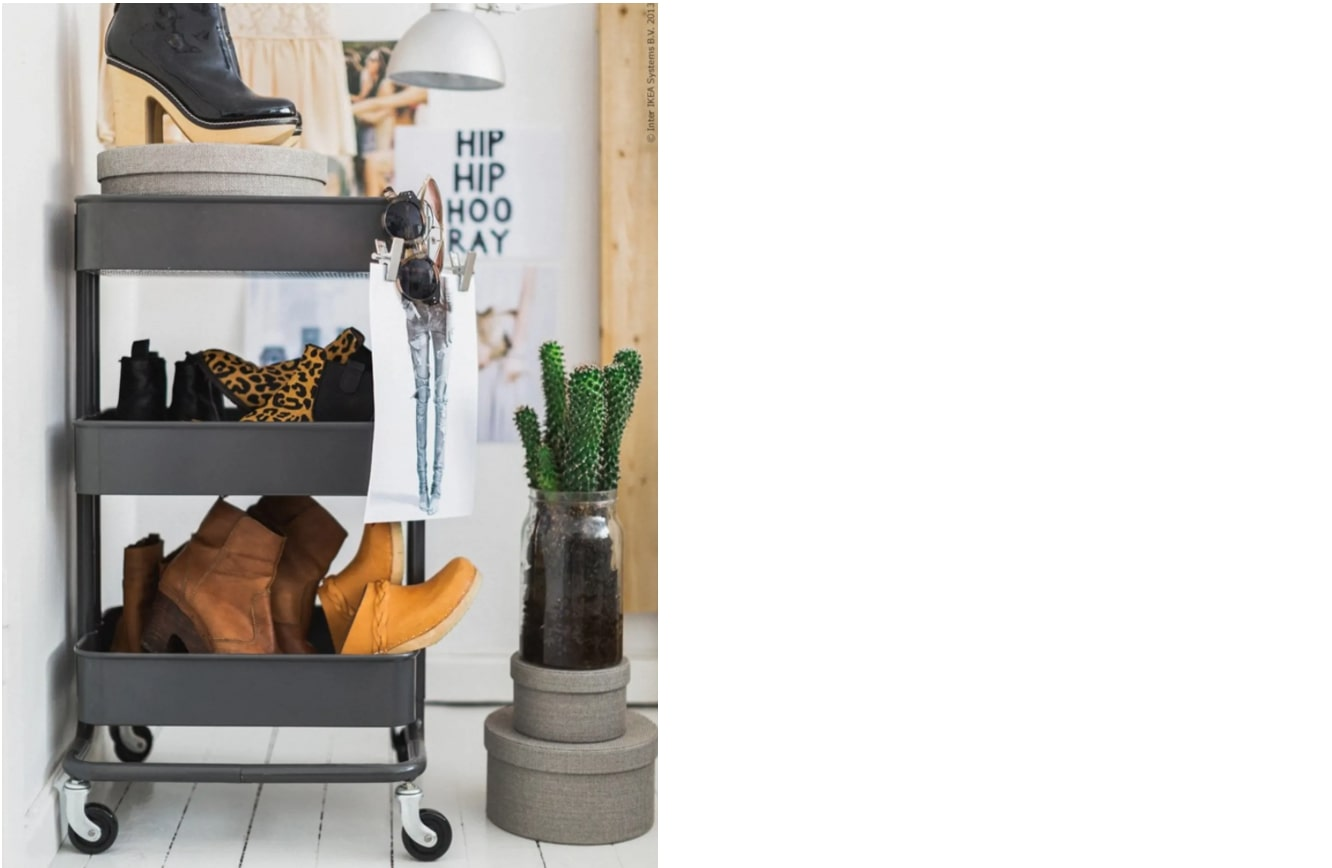 squarerooms-RÅSKOG-Trolley-black-repurposed-shoe-storage