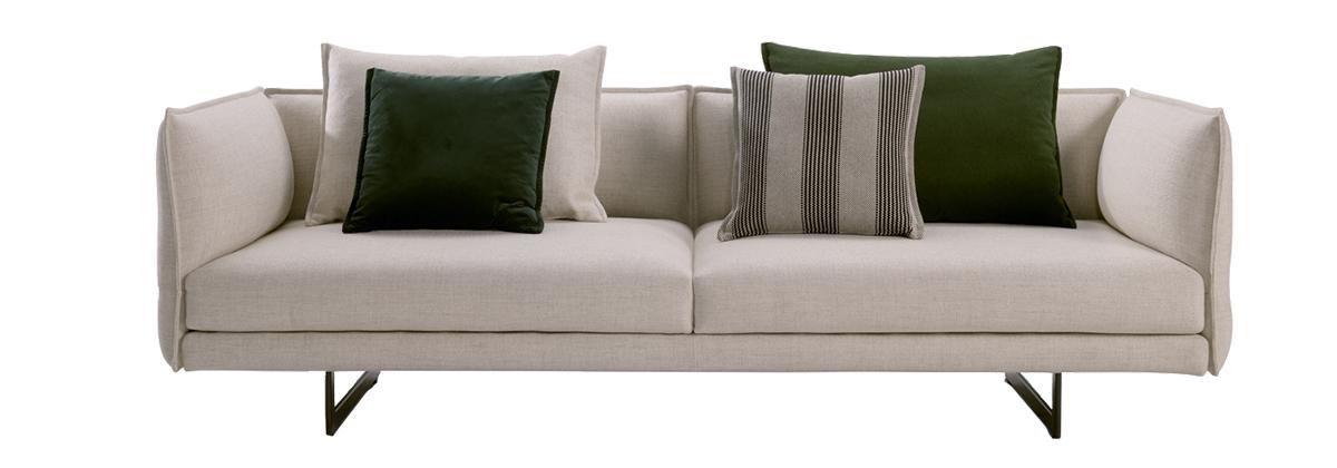 squarerooms king couch sofa zaza model white green cushions product