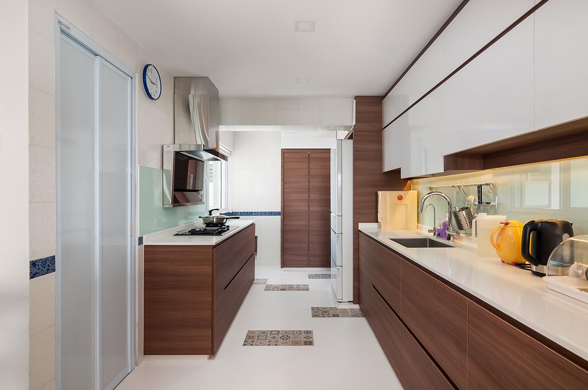 squarerooms bellus Quartz Surface kitchen white wood countertop