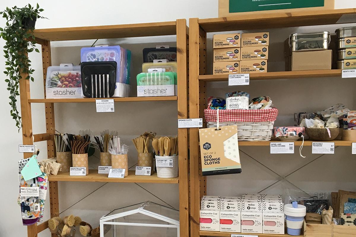 squarerooms the sustainability project showroom eco friendly shop singapore shelf wood