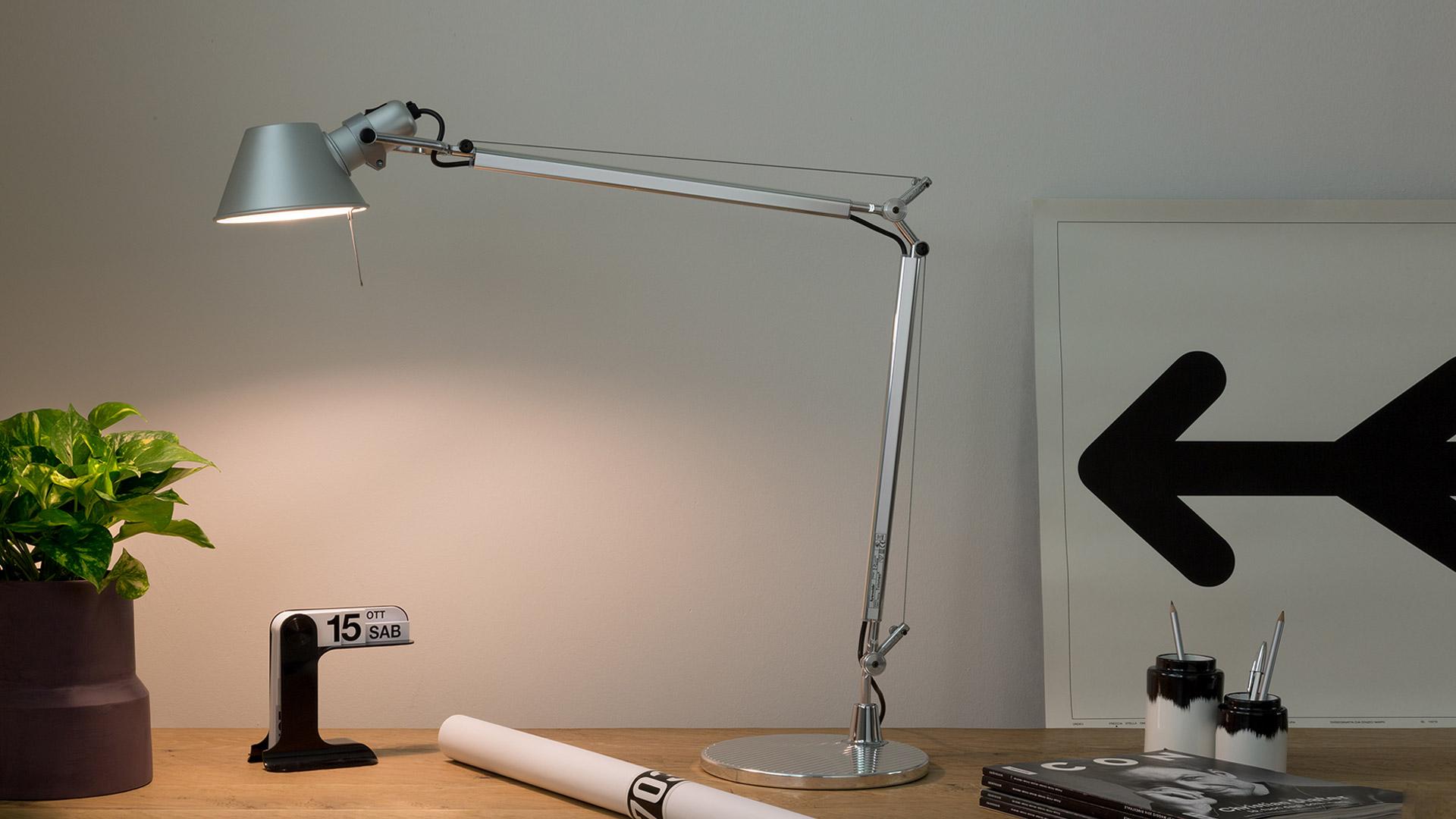 squarerooms tolomeo artemide table lamp grey work desk light iconic designer
