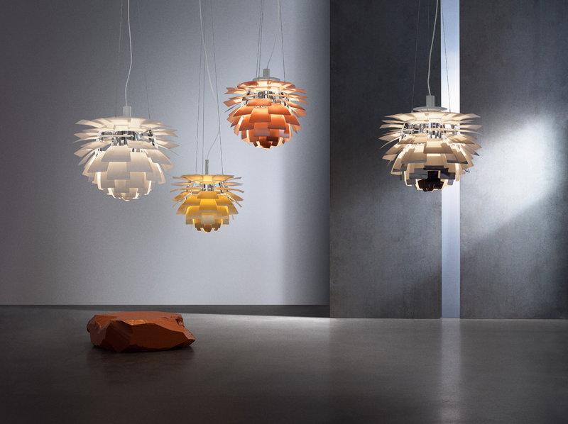 squarerooms louis poulsen ph artichoke lamp light colourful pendant designer iconic bold