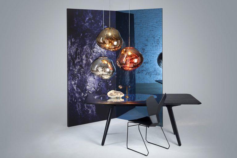 squarerooms Melt-Copper-Chrome-Gold tom dixon xtra lights lamps pendants table dining designer iconic metallic