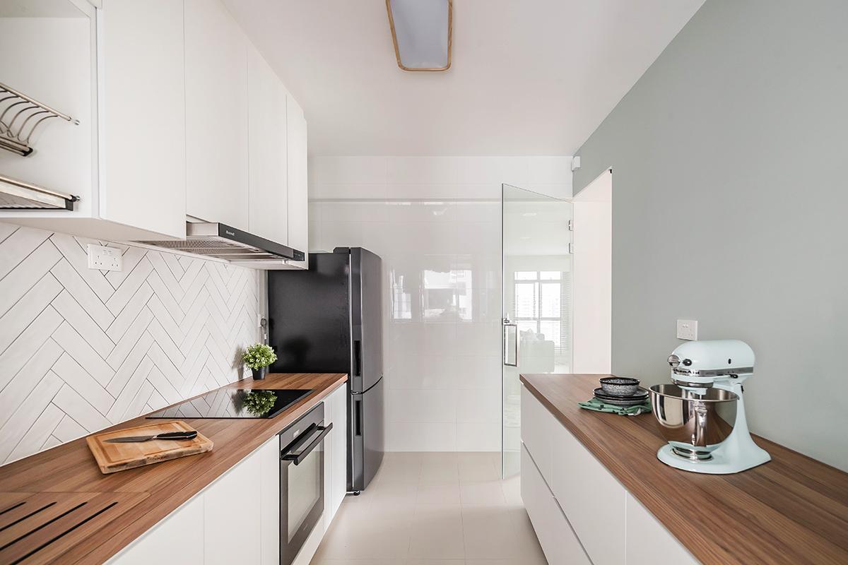 squarerooms noble interior design minimalist white wood scandinavian kitchen pastel green