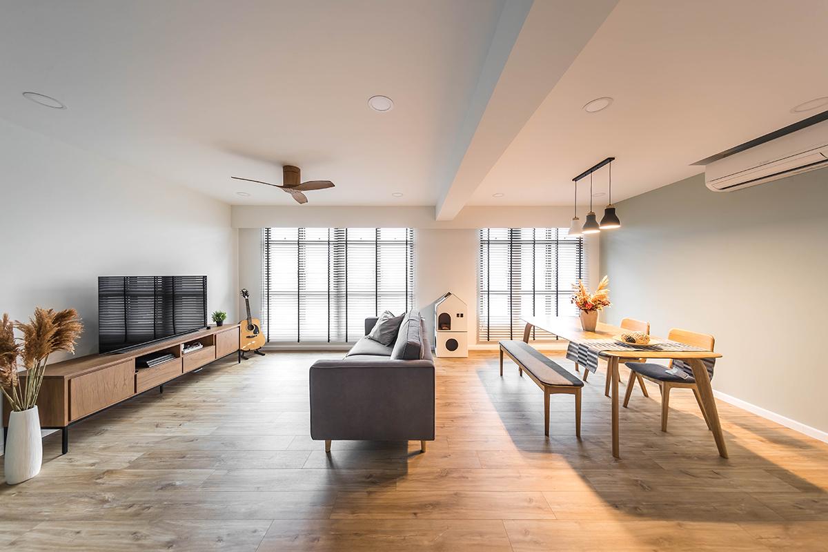 squarerooms noble interior design minimalist white wood scandinavian living room area dining