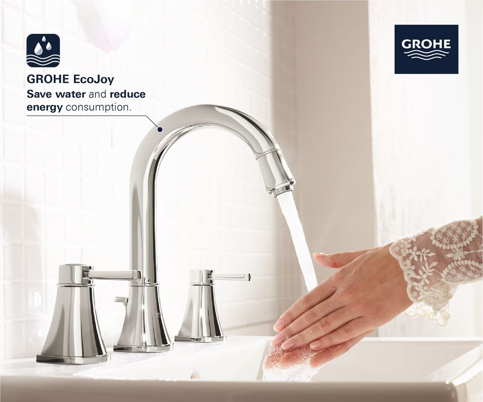 squarerooms grohe ecojoy hand washing faucet tap sink