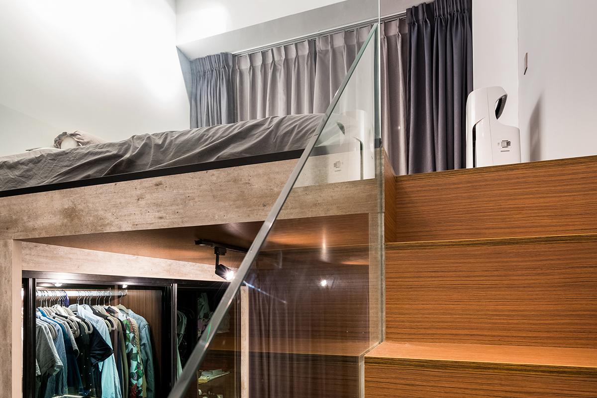 squarerooms fineline design home renovation interior budget cost 30k wood stairs bedroom platform loft