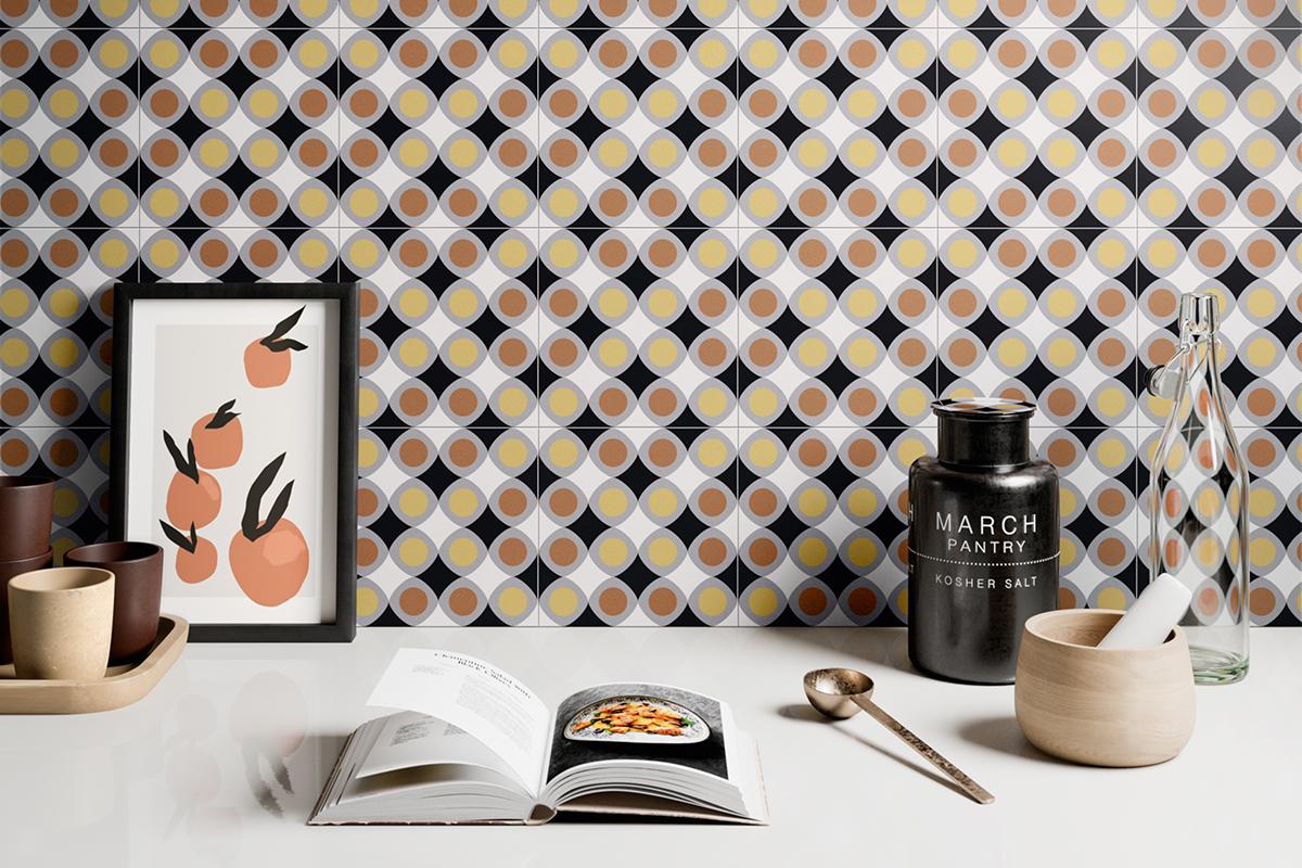 squarerooms soon bee huat sbh tiles fun kitchen backsplash orange black