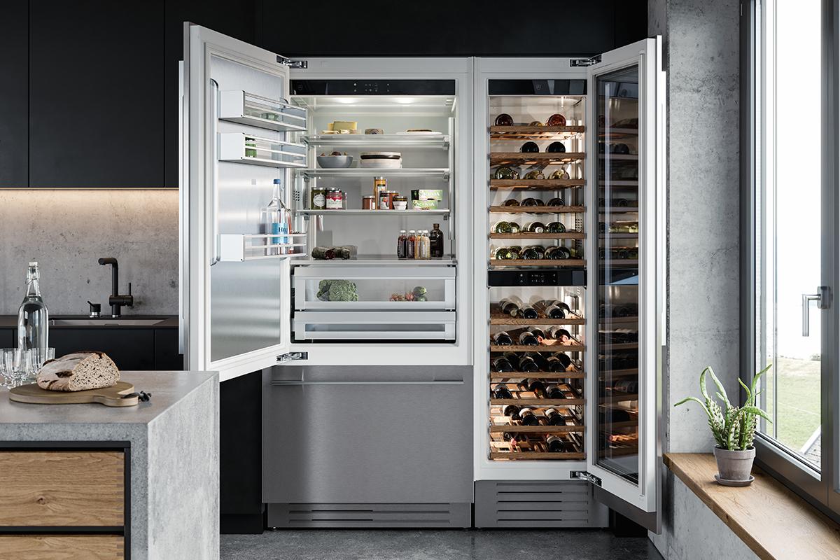 squarerooms v-zug vzug kitchen appliances fridge large cooler