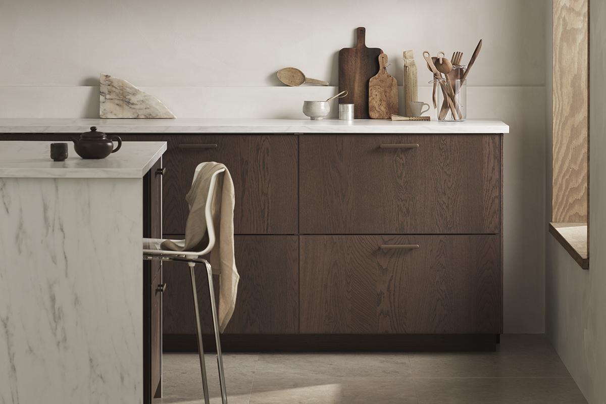squarerooms ikea furnishings furniture kitchen minimalist earthy rustic wood cool tones new