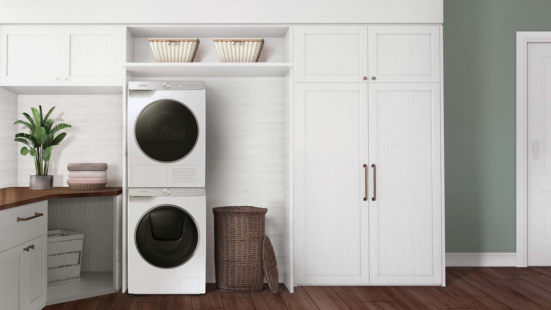 squarerooms samsung washer dryer quickdrive new washing machine appliance laundry white
