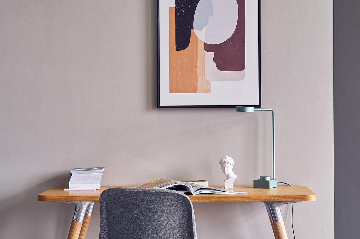 squarerooms Commune furniture portrait artwork painting desk office wood pastel minimalist