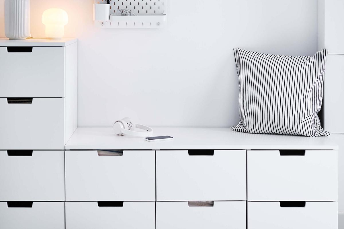 squarerooms IKEA storage white nook seat cosy corner seating area sit cushion drawers